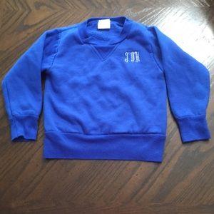 Monogrammed initials JDH toddler boy sweatshirt